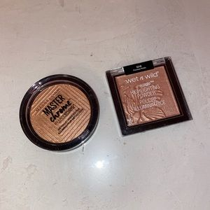 Maybelline and wet and wild highlighter bundle